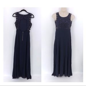 Soieblu Navy Special Occassion Maxi Dress  S
